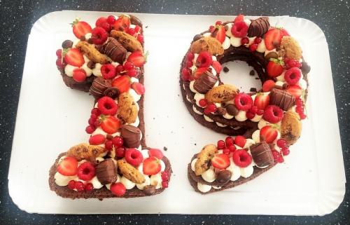 19 brownie fruits rouges