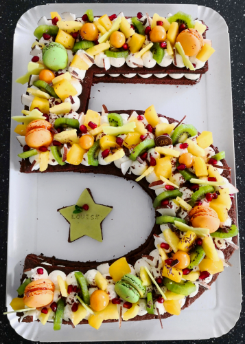 5 brownie  fruits exotiques