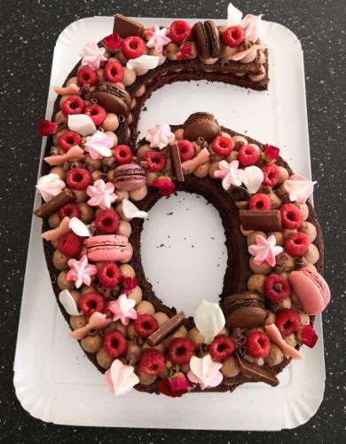 6 brownie chocolat et framboises
