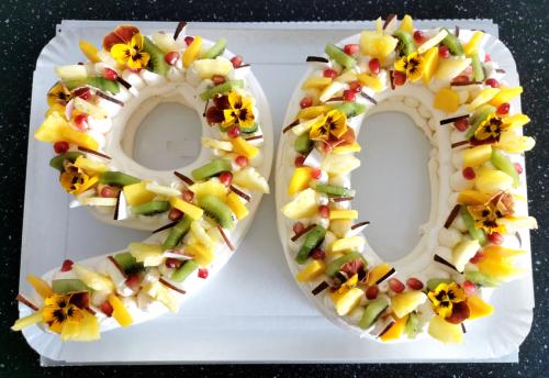 90 meringue  fruits exotiques