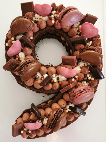 9 brownie  chocolat  rose
