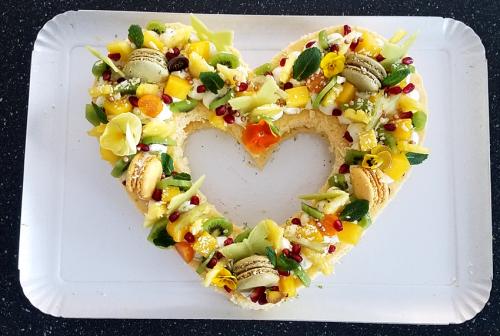 Coeur genoise fruits exotiques