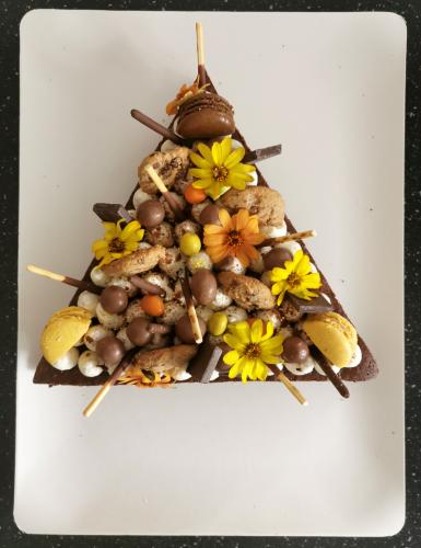 Triangle brownie  friandises choco